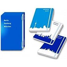 City Edition - Berlin, Hamburg & München: Drei Bände in Lederoptik in elegantem Schuber, mit Notizbuch (MERIAN live)