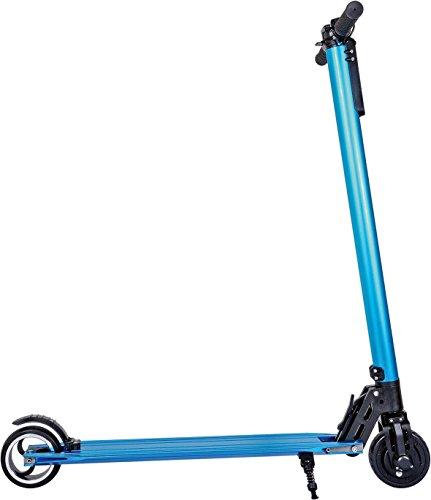 DCB Elektro Scooter mit einer Höchstgeschwindigkeit bis 22/23 km/h (4.4Ah und 8.8Ah Batterie, Faltbar für leichten Transport, LED Front Licht, Belastbar bis 90 Kg, Konstant 250 Watt) in schwarz, blau und weiß erhältlich (Blau, 4,4Ah)