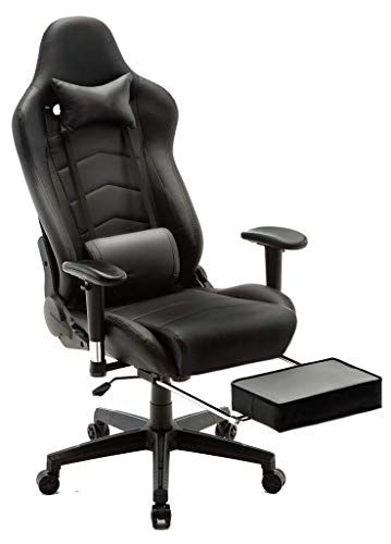 Stil-massage-stuhl (YUHT Gaming Stuhl mit Massage, Ergonomischer Racing Stil Lehnstuhl Ergonomischer Bürostühle Gamer Sessel für Computer, PU-Leder E-Sport Racing Stühle mit Fußlehne, Lendenkissen Büro Sessel für PC)
