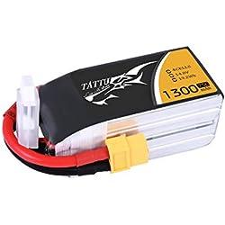 Gensace and Tattu 10002 - Lipo batería Pack 1300mAh 14.8V 75C 4S1P con XT60