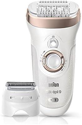 Braun Silk-épil 9 9-561 - Depiladora eléctrica inalámbrica con tecnología Wet&Dry, húmedo y seco, con 6 accesorios