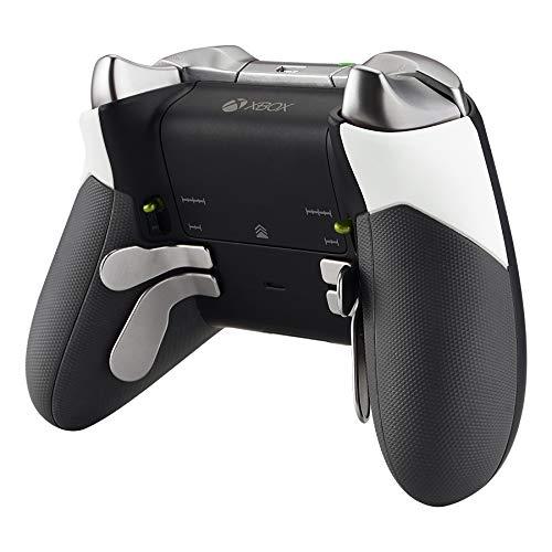 eXtremeRate Case Grips Gehäuse Hülle Cover für Xbox One Elite Controller, Griffe Ersatzteile Schale für Xbox One Elite Controller Modell 1698(Soft-Touch Weiß)