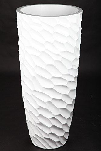 point home Blumenkübel Pflanzkübel Pflanzgefäß - aus Fiberglas für Innen