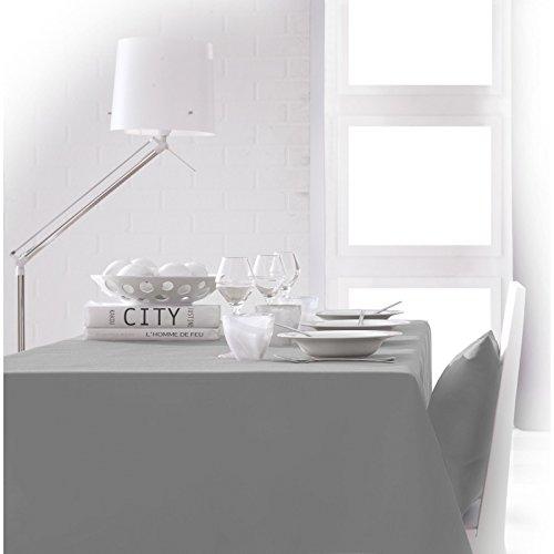 Today 256214 Nappe Polyester Zinc/Gris 140 x 200 cm