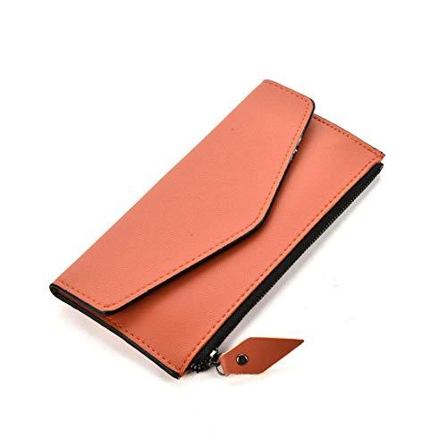 Modische Damen-Brieftasche/Geldbörse/Geldbörse/Geldbörse aus Leder mit Knopf und in der Münztasche, orange (Orange) - T8xxx4xz256 - Vorteil Karamell