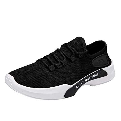 Sneaker Herren Laufschuhe Turnschuhe Männer Masche Freizeitschuhe Atmungsaktive Sportschuhe Round Toe Schnürschuhe Jogging Schuhe,ABsoar