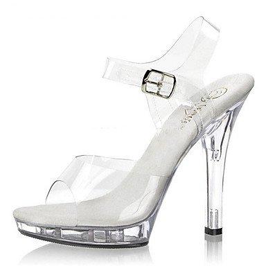 Rtry Mujer Zapatos Pvc Transparente Verano / Otoño Heels / Sandals Heels Wedding / Part & Amp; Noche / Informal Hebilla De Tacón De Aguja Luz Us10.5 / Eu42 / Uk8.5 / Cn43