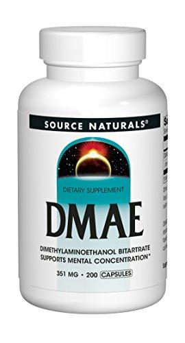 Source Naturals, DMAE, 351 mg, 200 Capsules Test