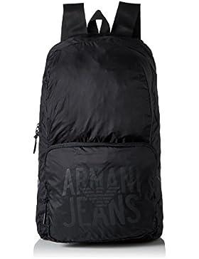 Armani Jeans Foldable Herren Rucksack Schwarz