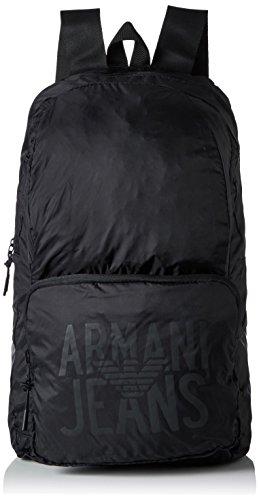 Armani Jeans Zaino - Zaini Uomo, Schwarz (Nero), 48x15x29 cm (B x H T)