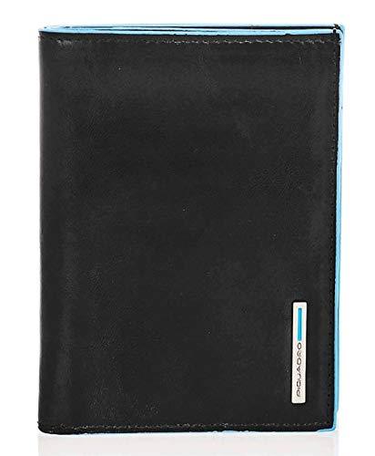 Piquadro Blue Square portafoglio da uomo verticale -PU1393B2 (Nero)