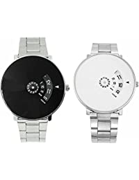 JM Seller Stylish Black And White Dial Watch For Both Girls And Boys
