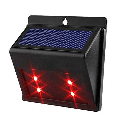 DINOWIN Predator deterrente solare luce LED animali Repeller repellente luce per esterni, impermeabile, Garden outdoors Wildlife Animal Mobilizer espulsione luci notturni