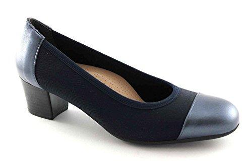 GRUNLAND Toro SC1711 Blu Scarpe Donna Decolletè Elasticizzato Puntale Blu