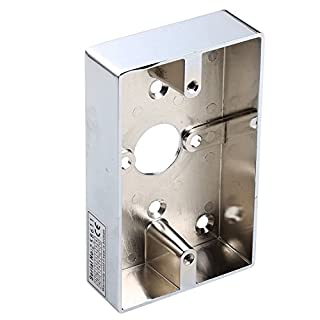 UHPPOTE Material Metal Zinc Alloy Surface Wall Mounted Back Wiring Box 114Lx70Wx25H(mm)