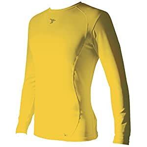 Precision Base-Layer Long Sleeve Crew-Neck Shirt Yellow - Unspecified