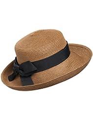 Kylin Express femmes Summer et UV pliable chapeau de paille plage soleil Bouchons (Marron)