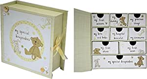 'My Special Keepsakes' Box in Yellow - Newborn or Christening Gift
