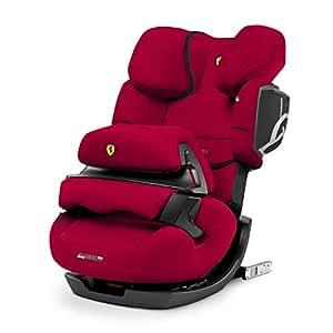 CYBEX Silver Seggiolino auto 2 in 1 per bambini Pallas 2-Fix Scuderia Ferrari, Per auto con e senza ISOFIX, Gruppo 1/2/3 (9-36 kg), Dai 9 mesi ca. ai 12 anni ca.e, Racing Red
