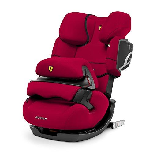 Cybex - Silla de coche grupo 1/2/3 Pallas 2-Fix, silla de coche 2 en 1 para niños, para coches con y sin ISOFIX, 9-36 kg, desde los 9 meses hasta los 12 años aprox.Scuderia Ferrari: Racing Red