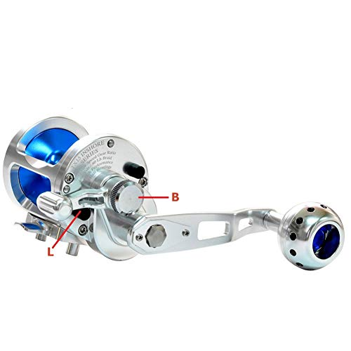 YXZTM Angelrolle Original Fishing Saltwater Reel Jigging High Speed 5:1 15W 30Lbs Inshore Offshore Sea Game Fishing Reel Silky Smooth Super Light (Offshore Reel Spinning)