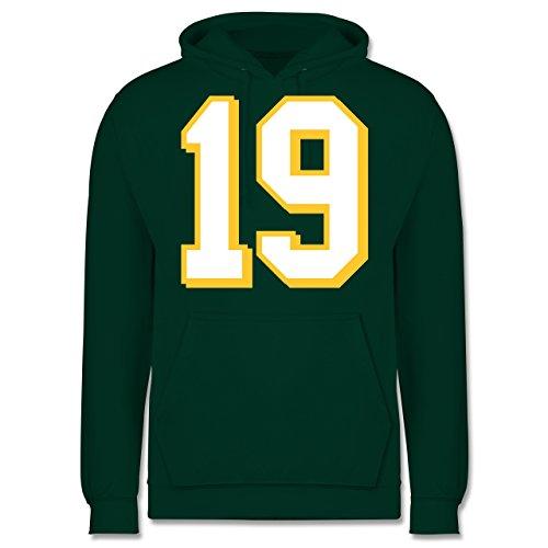 Shirtracer American Football - Football Minnesota 19 - S - Dunkelgrün - JH001 - Herren Hoodie