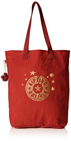 Kipling HIP Hurray 5, Shopper Donna, Rosso (78G Red Rust), 40.5x40.5x14.5 cm (B x H x T)