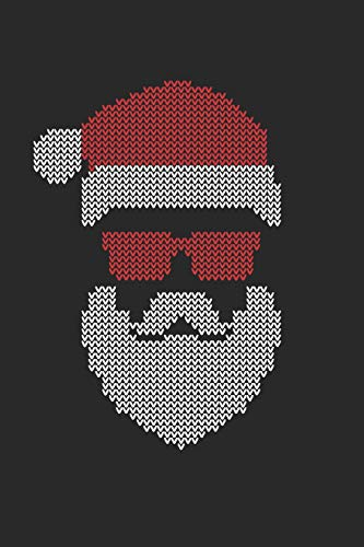 Medium Hipster (Christmas Notebook 'Ugly Christmas with Santa Hat' - Santa Claus Hipster Sunglasses Ugly Christmas - Christmas Journal: Medium College-Ruled Journey Diary, 110 page, Lined, 6x9 (15.2 x 22.9 cm))