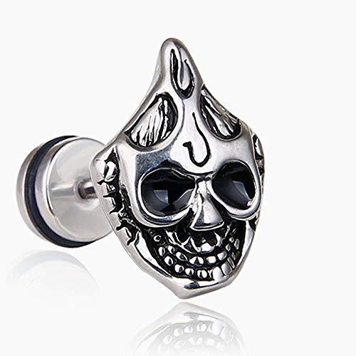 Beito Geist-Kopf-Bolzen-Ohrring-Schädel Horrifying Ohrring Halloween Dekoration Girl/Boy 1 PCS
