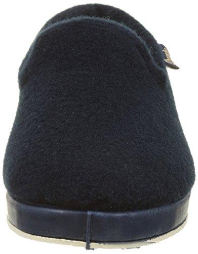 Wamba Di Victoria Ladies Copete Picos F / Borreguillo Low Slippers Blue (marino)