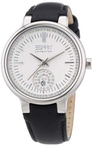 Esprit Damen-Armbanduhr Maia black Analog Quarz Leder EL101972F02