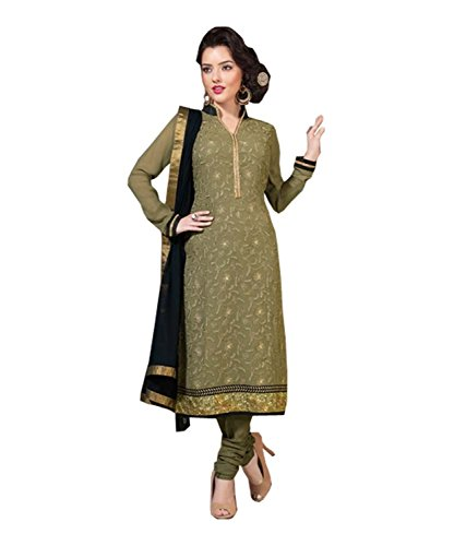 FadAttire Straight Fit Pakistani Style Dress Material-Brown-ACLL04