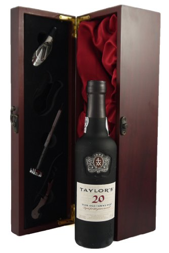 Taylors-20-year-old-Tawny-Port-375CL-presented-in-a-silk-lined-wooden-box-with-four-wine-accessories