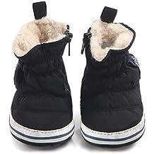 Tukistore Unisex Bebé niña niño Botas de Nieve Invierno Caliente Suave Suela Cuna Zapatos ...