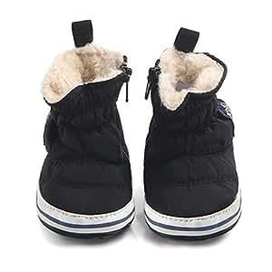 Tukistore Invernale Caldo Scarpe bambino,Scarpine neonato Carino Baby Toddler Antiscivolo Fondo Morbido Scarpe da Bambino Stivali di Lana Scarpe in Cotone Spesse Scarponi da Neve Baby Shoes
