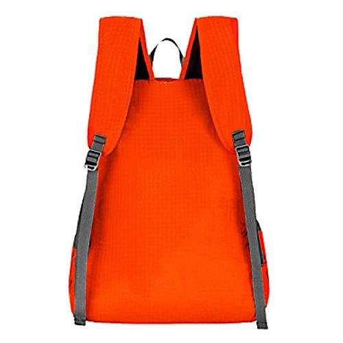 Borsa Da Ciclismo Sportiva Da Campeggio 20L Borsa Da Viaggio Pieghevole A Tracolla Tasca Leggera Impermeabile Di Viaggio,Orange Orange