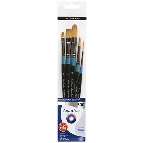 Set di 5 pennelli per acquerello - Aquafine 500 di Daler Rowney - qualità e praticità a prezzo imbattibile