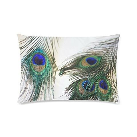 fantaisie Superbe Motif plume de paon Custom Rectangle Canapé Home Couvre-lit décoratif Taie d
