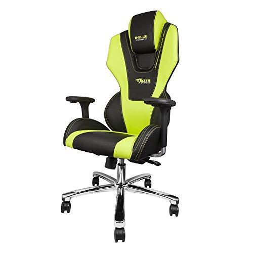 E-Blue Mazer Gaming Chair PU Leather Office Ergonomic Computer eSports Desk Executive EEC304GR Green