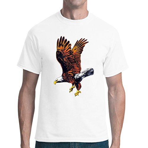 Fun unisex T-Shirt - Natur Motiv: Fliegender Adler by Im-Shirt Weiß