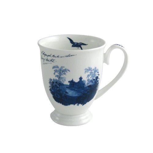 Aynsley Archive Tasse mit Standfuß, Blau/Weiß Blue Footed Mug