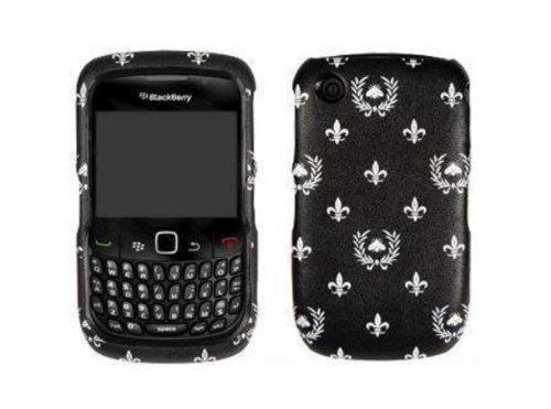 Verizon OEM Schutzhülle für BlackBerry Curve 2 8530, zum Aufstecken, Blumenmuster, Schwarz Verizon Wireless Blackberry Curve