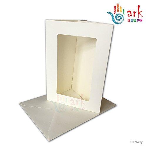 Ark Passepartout-Karten, mit Umschlägen, rechteckiges Passepartout,ca.13x 18cm,4Stück...