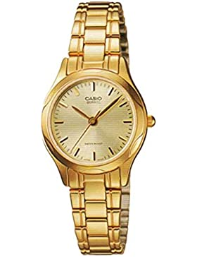 CASIO Damen-Armbanduhr Analog Quarz Edelstahl LTP-1275G-9