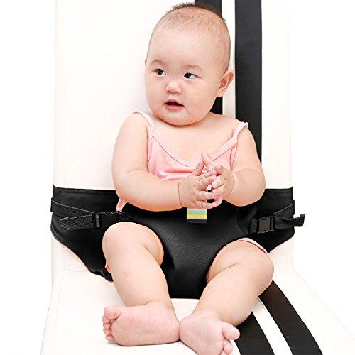 E-Bestar Portable Voyage Chaise Haute Bébé Booster Ceinture de Sécurité Pour les Bébés de 3 à 30 Mois Bambin Alimentation Ceinture (Noir)