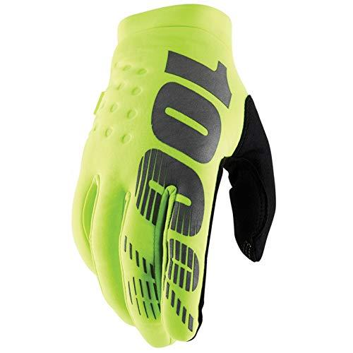 100% Prozent Brisker Kinder Fahrrad Handschuhe MTB DH MX Mountain Bike Motocross Enduro Offroad Quad, HU-GLO-0037, Farbe Gelb Schwarz, Größe M