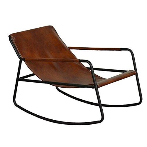 Folding chair LVZAIXI Retro- Alter Mann-Klubsessel, Winter-attischer Eisen-Schaukelstuhl-fauler Stuhl