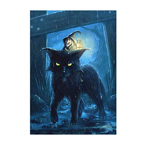 Nankod Full Diamond Painting Halloween Cat 5D DIY Embroidery Cross Craft Stitch Decor For Office Home Dining Room Corridor (Painting Halloween Crafts)
