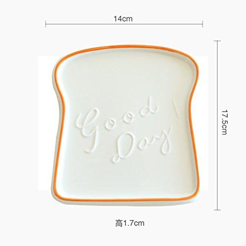 color-crema-pane-plates-affettare-pane-tostato-piatto-di-ceramica-semplice-colazione-a