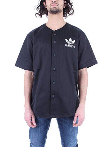 adidas Herren Baseball T-Shirt, Black/Carbon, S -